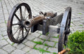 Old military cannon view of metal Stock Images