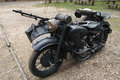 Royalty Free Stock Image Old military motorcycle