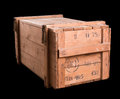 Old military wooden box isolated on black Royalty Free Stock Images