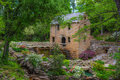 The old mill from gone with the wind movie in north little rock arkansas was featured in one of opening scenes this photo shows it Stock Photography