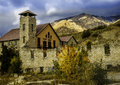 Old mill near the base of big cottonwood canyon Royalty Free Stock Photo