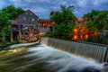 The old mill pigeon forge tennessee twilight at along little river in Stock Photography