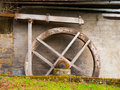Old mill water wheel without no motion Royalty Free Stock Image