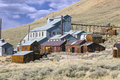Old mine abandoned buildings at bodie state park california Royalty Free Stock Image