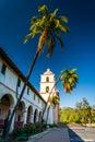 Old Mission Santa Barbara, in Santa Barbara, California. Royalty Free Stock Photo