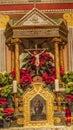 Old Mission Santa Ines Solvang California Basilica Altar Cross Royalty Free Stock Photo