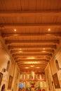Old Mission Santa Ines Solvang California Basilica Altar Cross a Royalty Free Stock Photo