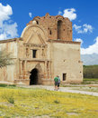An old mission tumacacori national historical park tubac arizona march on march near tubac arizona visitors tour at Stock Image
