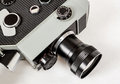 Old 8mm movie camera Royalty Free Stock Photo