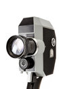 Old mm movie camera on white isolated background Royalty Free Stock Photos