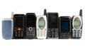Old Mobile phones Royalty Free Stock Images