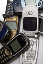 Old mobile phones III Royalty Free Stock Images