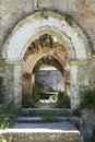 Old monastery door Royalty Free Stock Photo