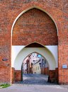 Old Monastery Gate, Torun, Poland Stock Photo