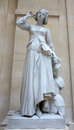 Old monument of jeanne d arc joan of arc in louvre museum Royalty Free Stock Photography