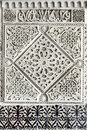 Old moorish stone carving close up seville Stock Photography