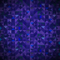 Old mosaic blue mosaic banner background with geometric shapes triangles geometric hipster pattern with place for your Royalty Free Stock Photos
