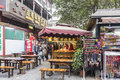 The old mother rabbit head in zhaixiangzi alley narrow alley scenery this photo was taken kuanzaixiangzi broad and chengdu city Royalty Free Stock Photo