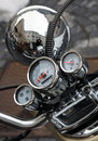Old motorbike detail Royalty Free Stock Photos