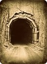 Old Mountain Road Tunnel vintage photo effect Royalty Free Stock Photo