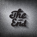 Old movie ending screen stylised noir the end lettering stylized Royalty Free Stock Image