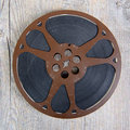 Old movie film reel 16mm Royalty Free Stock Photo