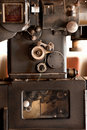 Old movie projector Royalty Free Stock Photo