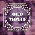 Old movie vintage background concept design purple made of triangles Royalty Free Stock Photography