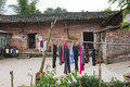 Old mud house the architecture of the rural areas of chongqing this is a editorial photograph photo shot in chongqing china may Stock Images