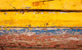 Old Multicoloured painted wood Royalty Free Stock Photo
