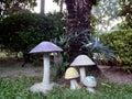 An old mushroom sculpture image of Stock Photos