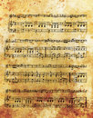 Old music note and vintage effect, musical background. Royalty Free Stock Photo