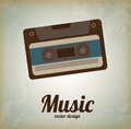 Old music over vintage background vector illustration Royalty Free Stock Photo