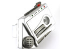 Old music player magnetophone over white Stock Photo
