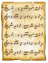 Old music sheet Royalty Free Stock Photo