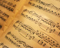 Old music sheets background Royalty Free Stock Photo