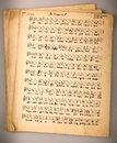Old musical score notation ancient russian chant Stock Images