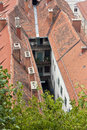 Old narrow inner courtyard Stock Photo