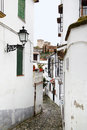 Old narrow street in granada spain Royalty Free Stock Images