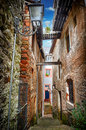 Old narrow street in small european town Stock Image