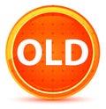 Old Natural Orange Round Button Royalty Free Stock Photo