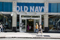 Old navy clothing store the big logo of stands out in downtown seattle Stock Images