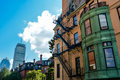 Old and new in Boston Royalty Free Stock Photo