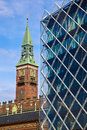 Old and new copenhagen denmark is a mixture of classy architecture modern architecture Royalty Free Stock Photos