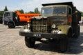 Old and new, dump trucks KAMAZ Royalty Free Stock Photo