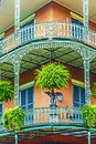 Old new orleans houses in french quarter Stock Photography