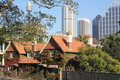 Old and modern Sydney city buildings Royalty Free Stock Photo