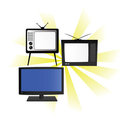 Old New TV Royalty Free Stock Image