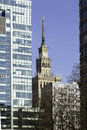 Warsaw architecure Royalty Free Stock Photo