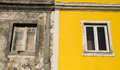Old and new window exterior of a house colored Royalty Free Stock Photo